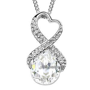 Silver 5 Carat Crystal Pendant Necklace use Swarovski Crystal XN423