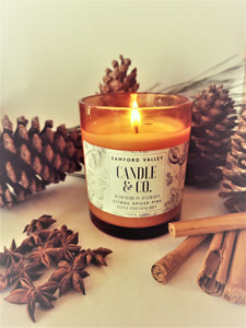 Citrus Spiced Pine Aromatherapy Soy Candle