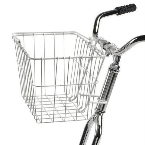 Wald 133 Quick-Release Front Basket White