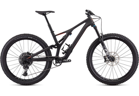 Specialized STUMPJUMPER COMP CARBON 27.5—12-SPEED Satin Carbon / Rocket Red