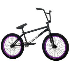 "2021 Sunday Forecaster Siemon FC 20"" BMX Bike Gloss Black w/ Purple Ano Rims"