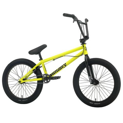 "2021 Sunday Primer Park 20"" BMX Bike Gloss Bright Yellow"