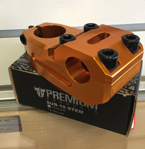 Premium Sub-10 Aluminum Bmx Stem Top Load Gold