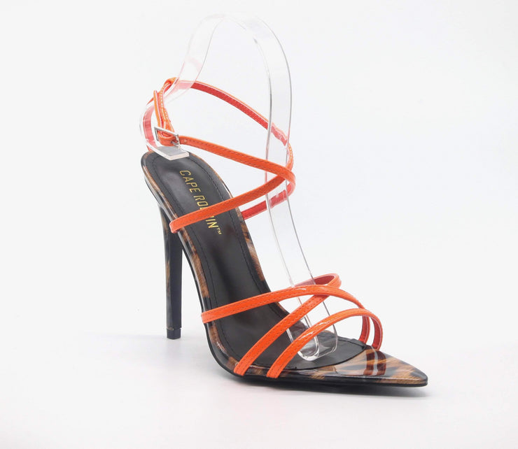 Strappy Stiletto High Heel Ankle Sandals Strappy Stiletto High Heel Ankle - Divinity-BoutiqueSandals