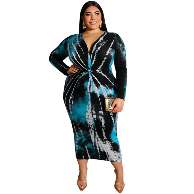 Women sexy maxi dress Tie Dye Print Dresses Women sexy maxi dress Tie Dye Print - Divinity-BoutiqueDresses