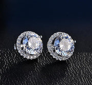 Halo Stud Earrings with Swarovski Crystals with Jewelry & Watches Halo Stud Earrings with Swarovski Crystals with - Divinity-BoutiqueJewelry & Watches