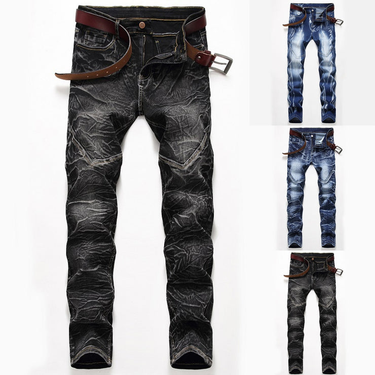 Man Pants Stretch Personality Printing Slim Fit Gym Pants Long Pants Man Pants Stretch Personality Printing Slim Fit Gym Pants Long - Divinity-BoutiquePants