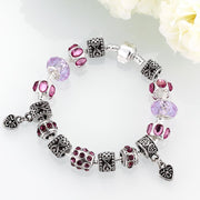 Purple Passion Magnetic Clasp Bracelet in 18K White Gold Plated Jewelry & Watches Purple Passion Magnetic Clasp Bracelet in 18K White Gold Plated - Divinity-BoutiqueJewelry & Watches