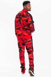 Red Camo Track Set Men's Clothing Red Camo Track Set - Divinity-BoutiqueMen's Clothing