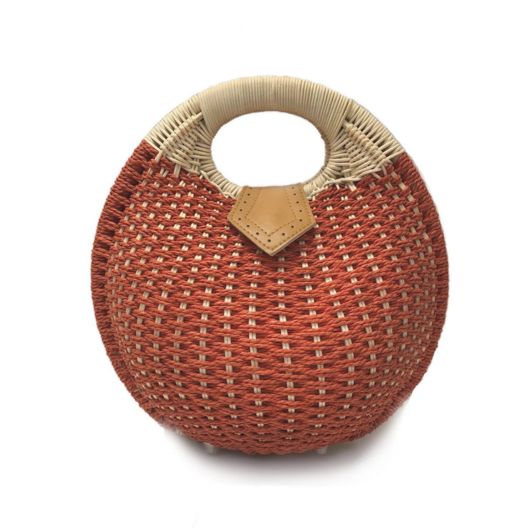 Top Handle Wicker Handbag in Round Shape Handbags Top Handle Wicker Handbag in Round Shape - Divinity-BoutiqueHandbags