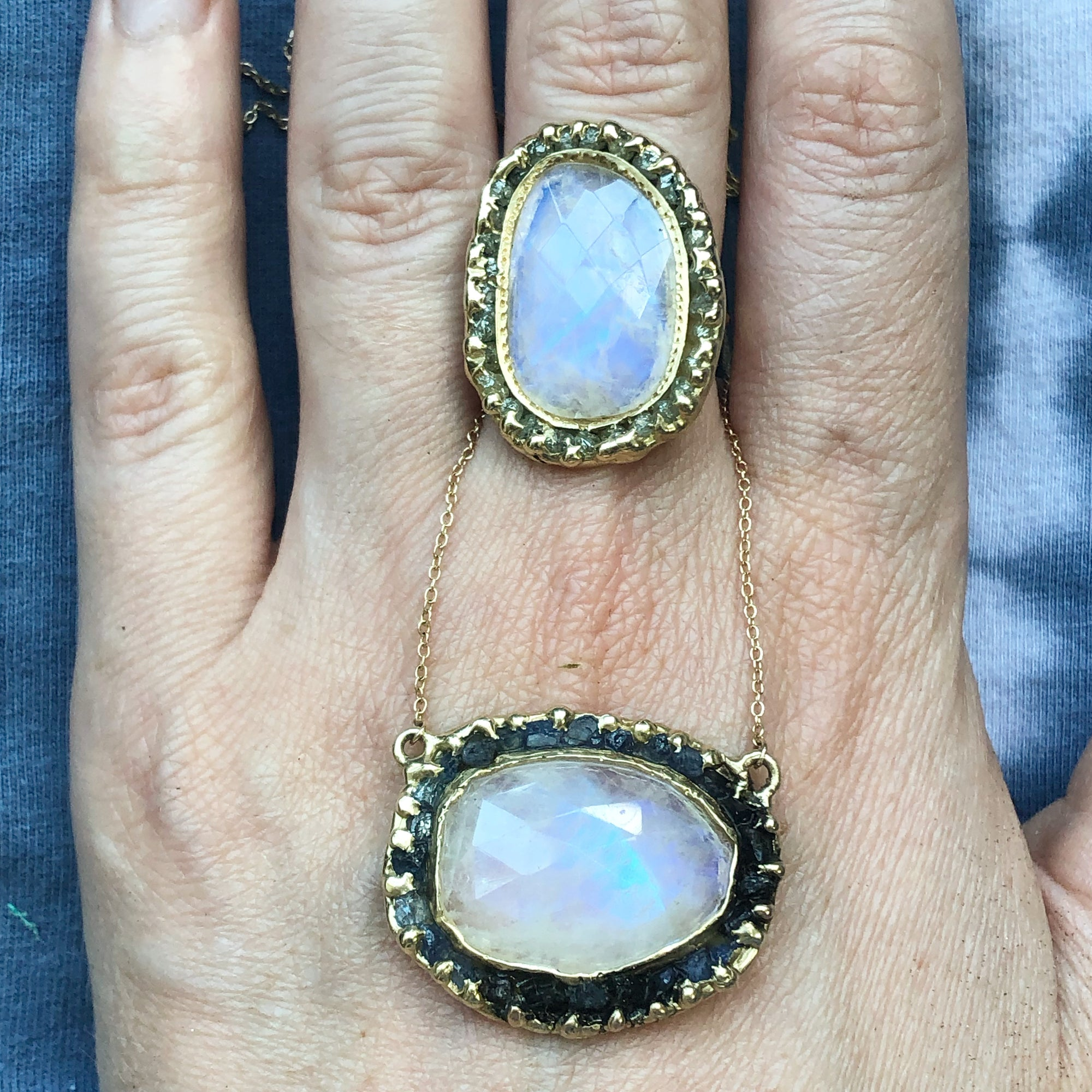 June Birthstones: Moonstone & Pearls