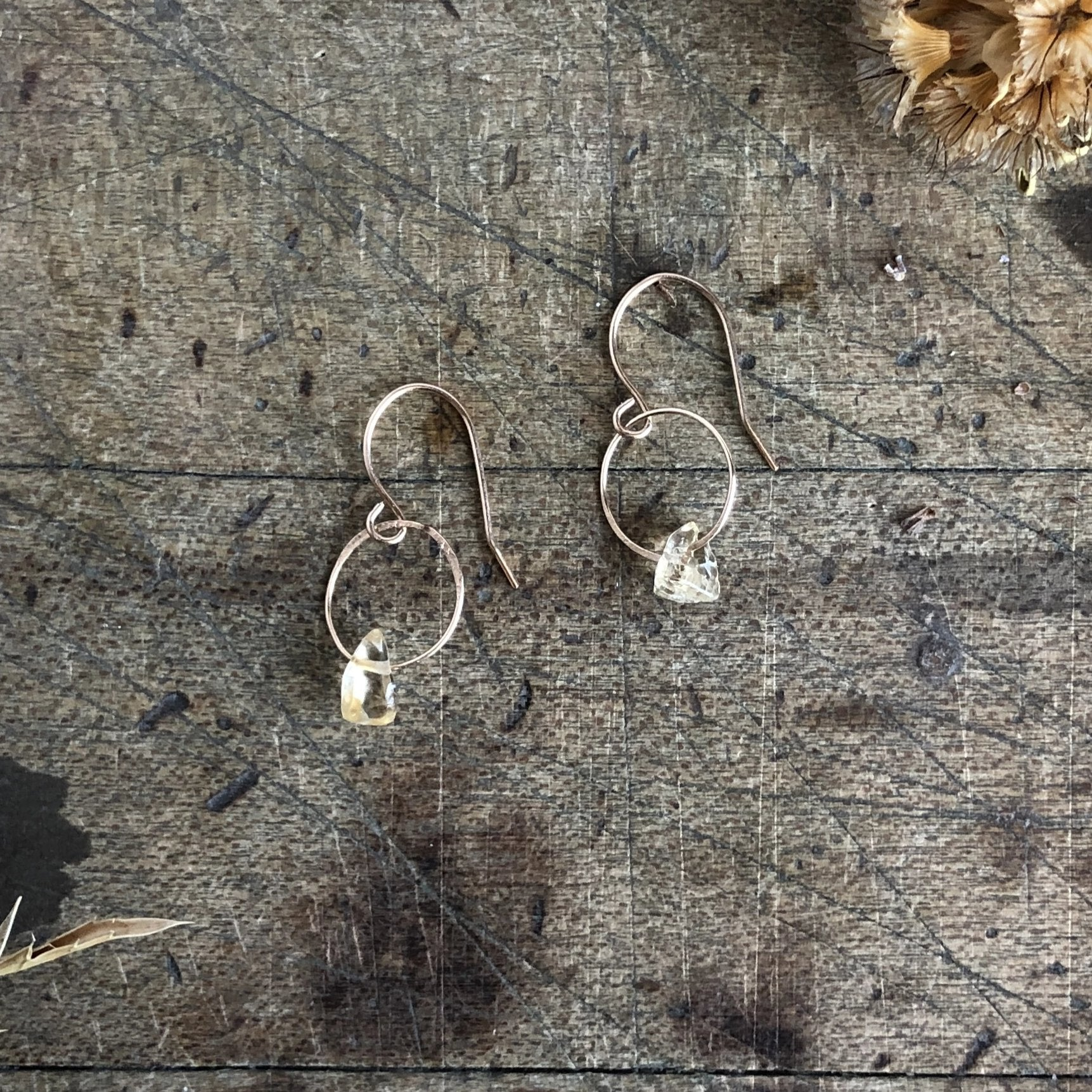 Citrine Birthstone Earrings