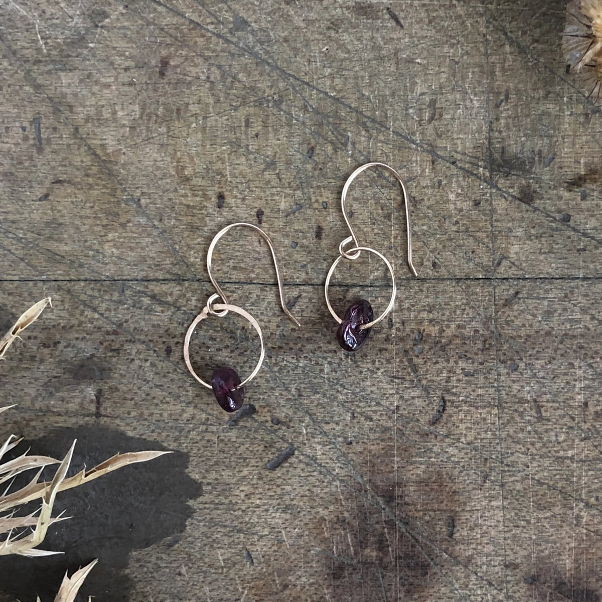 Garnet Birthstone Earrings