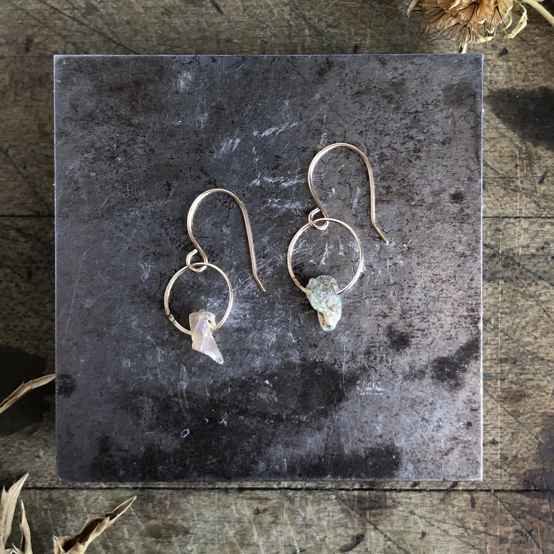 Opal Birthstone Earrings