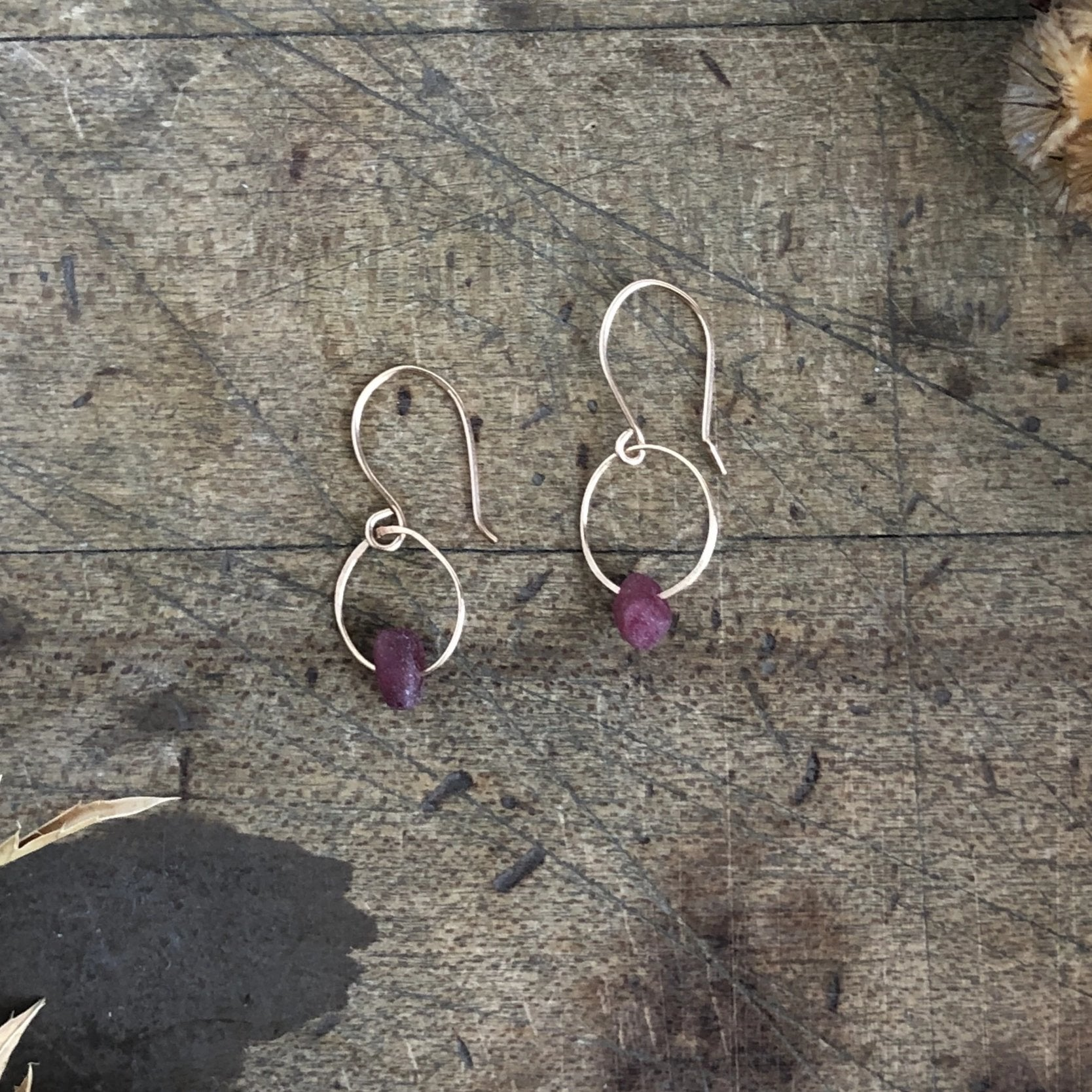 Ruby Birthstone Earrings