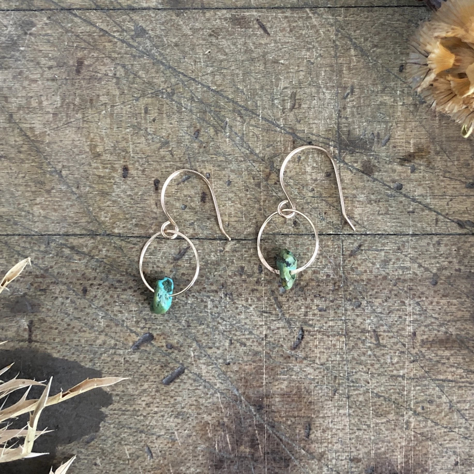 Turquoise Birthstone Earrings