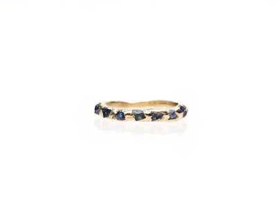 Blue Sapphire Unity Ring