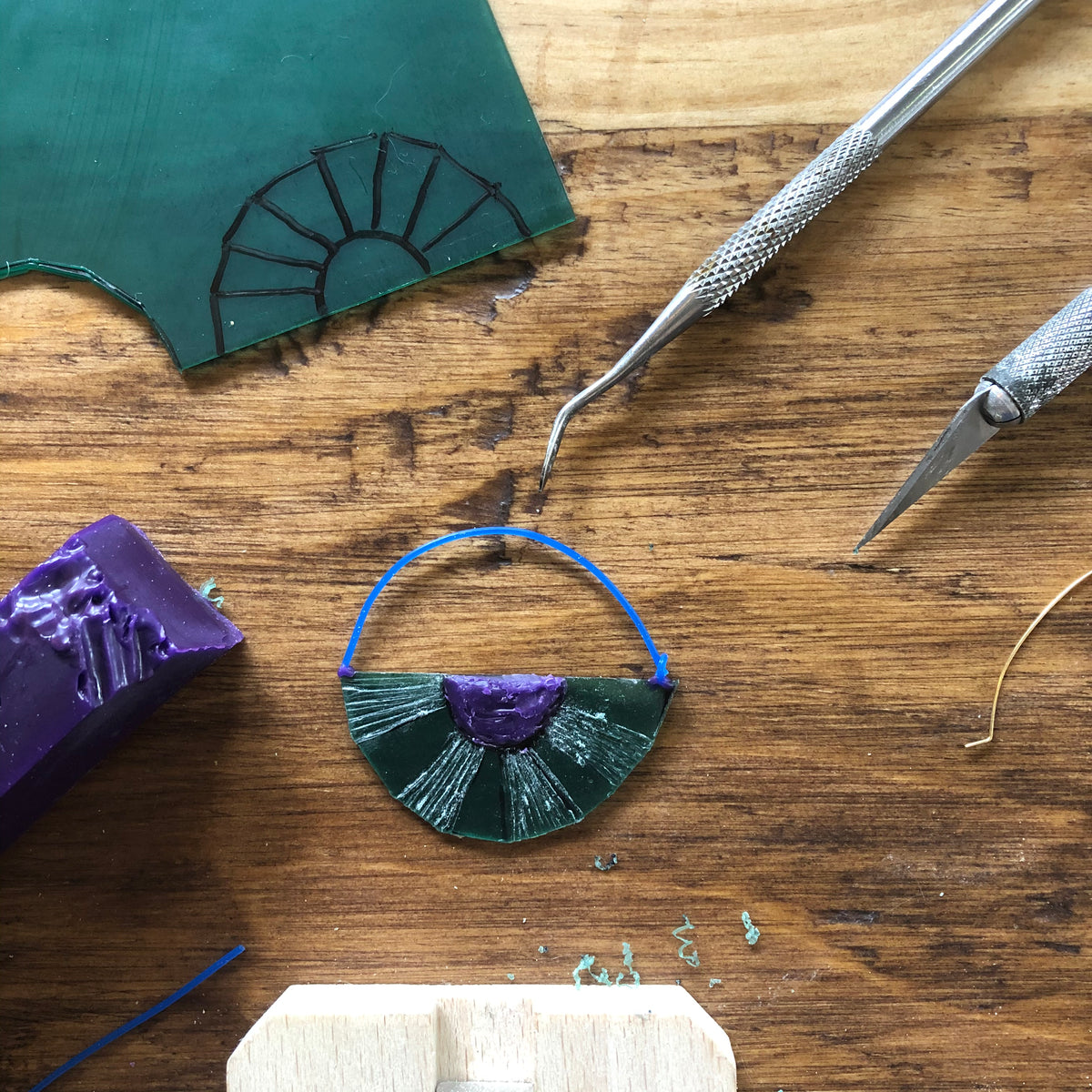 Lesson 5 | Wax Carving Class: Soft Wax Earrings