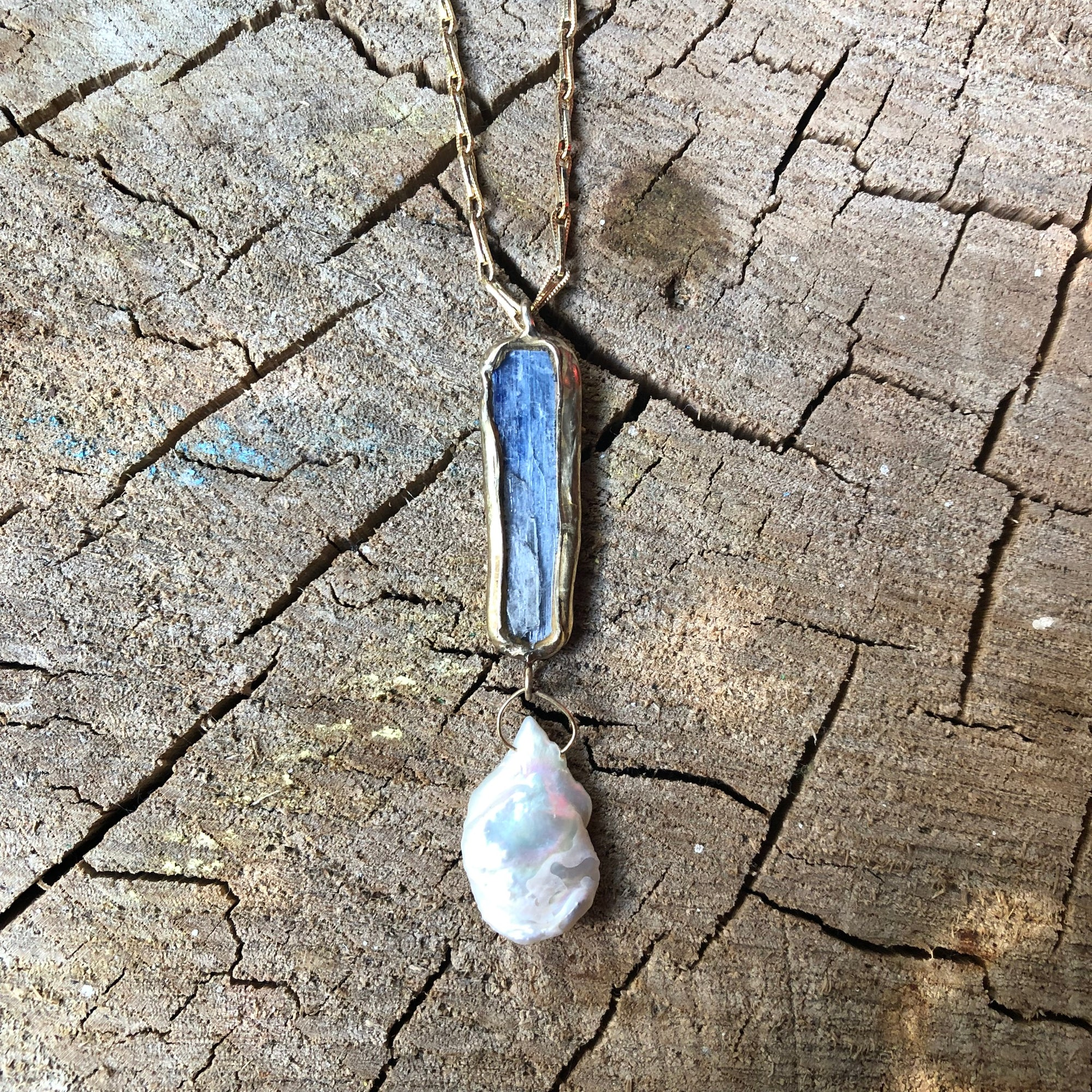 Summer Sky Vertical Necklace