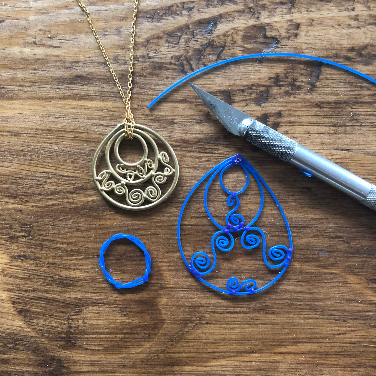 Lesson 10 | Wax Carving Class: Wax Wire Filigree Earrings