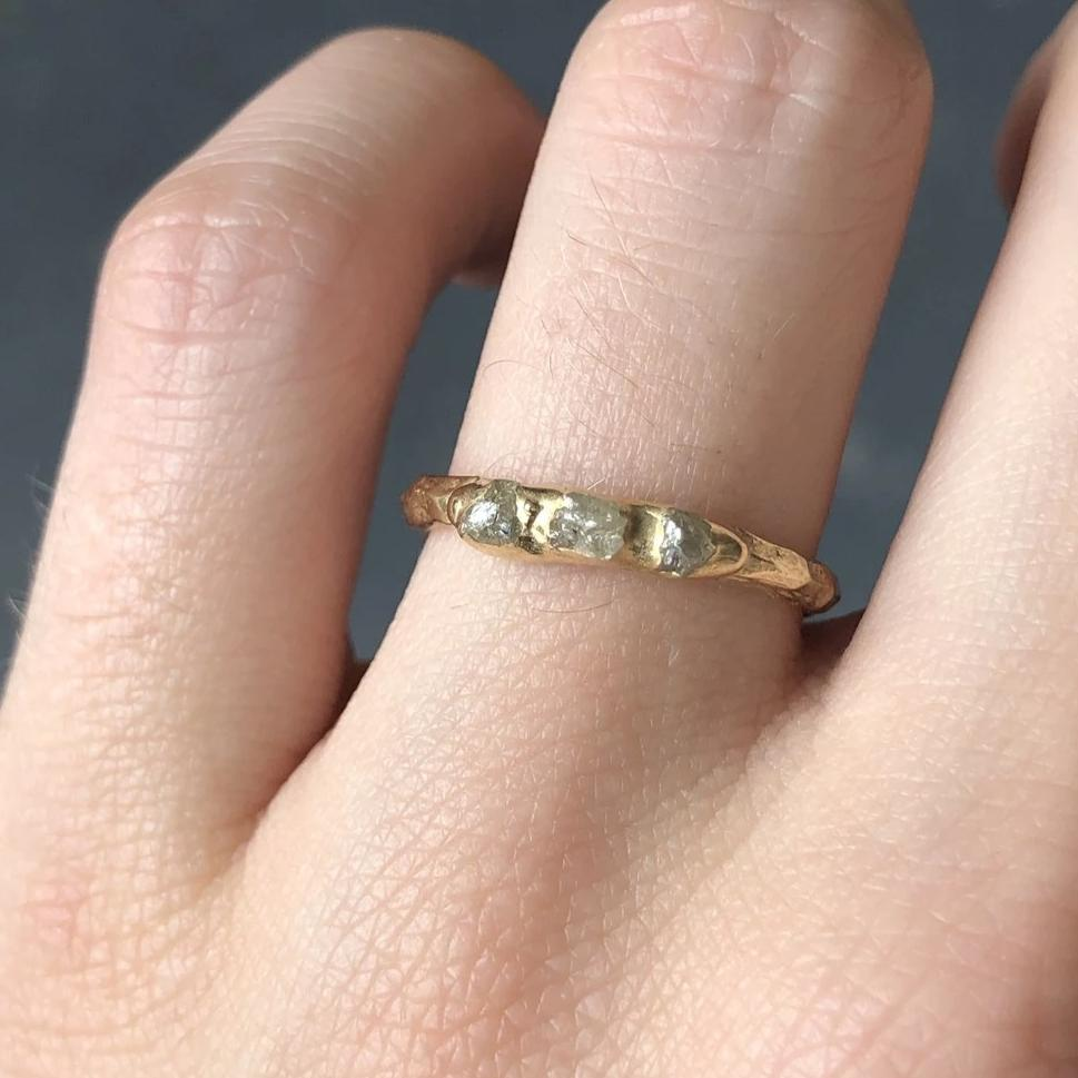Mini Cobblestone Ring - Diamond