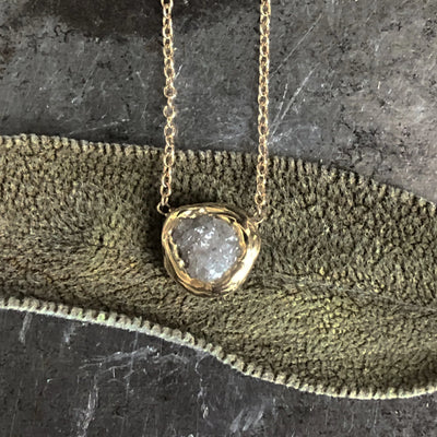 Rough Diamond Solitaire Pendant