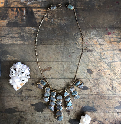 Aquatic Moss Cascade Necklace