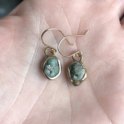 Aquatic Moss Solo Earrings