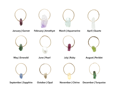Star Birthstone Charm Necklace