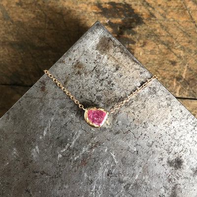 Bud Pendant - Pink Spinel