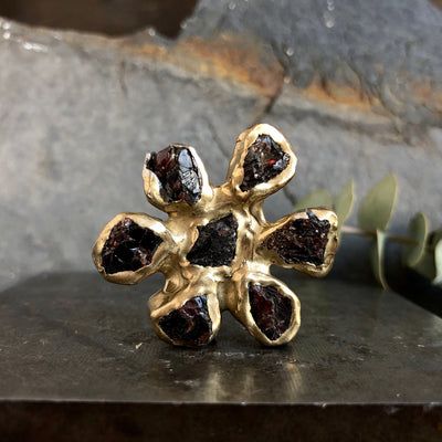 Dried Wildflower Ring
