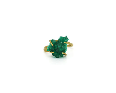Emerald Crystal Talisman Ring