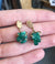 Emerald Crystal Talisman Earrings