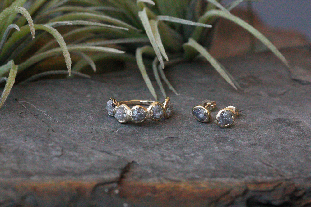 Bud Studs - Rough Diamond