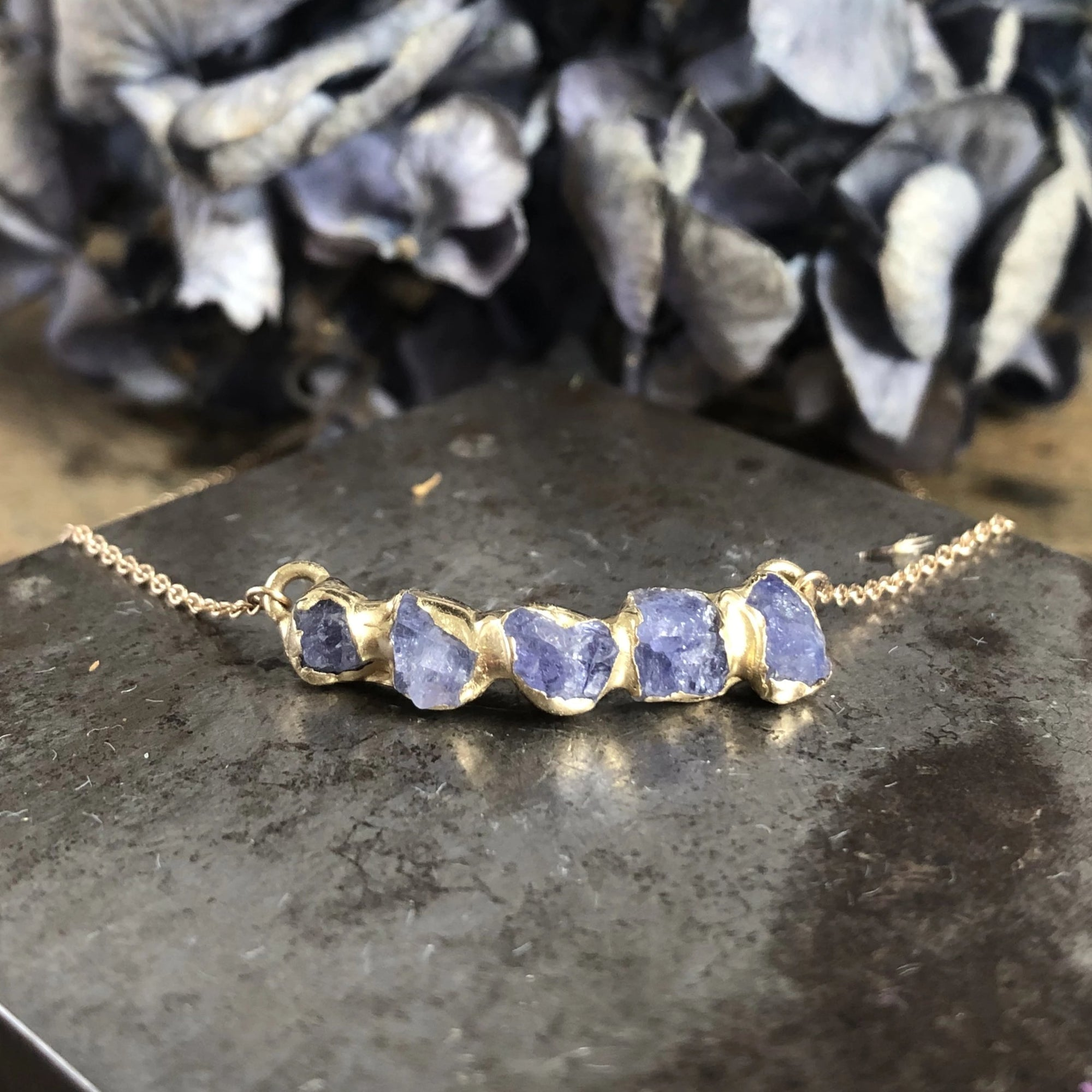 Flower Crown Pendant - Tanzanite