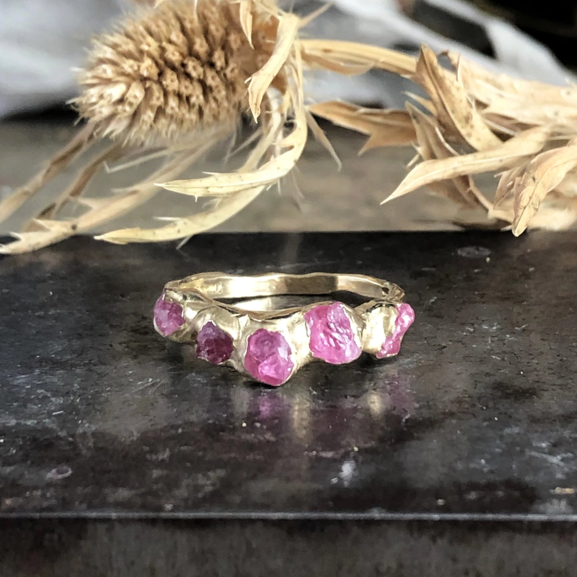 Flower Crown Ring - Pink Spinel