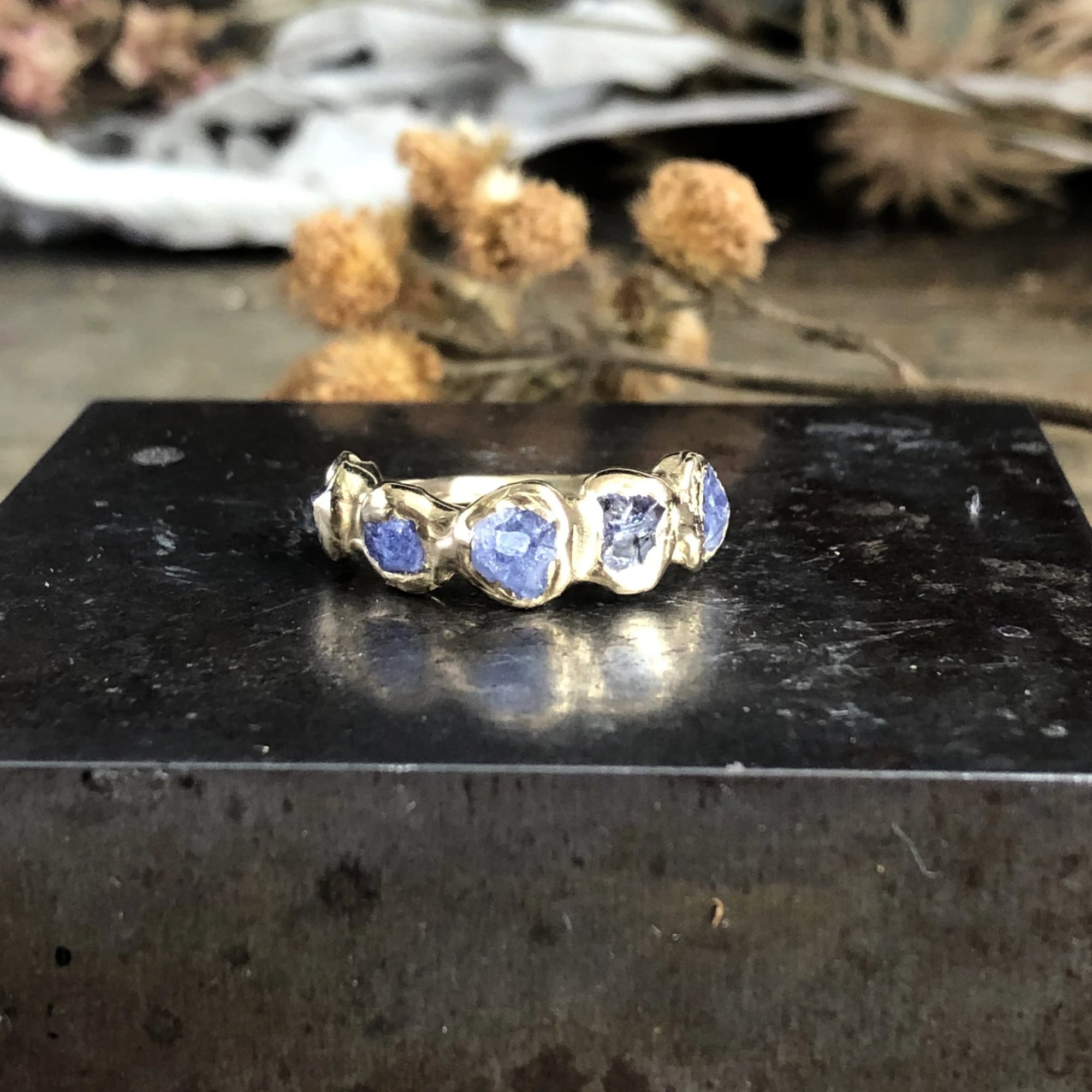 Flower Crown Ring - Tanzanite