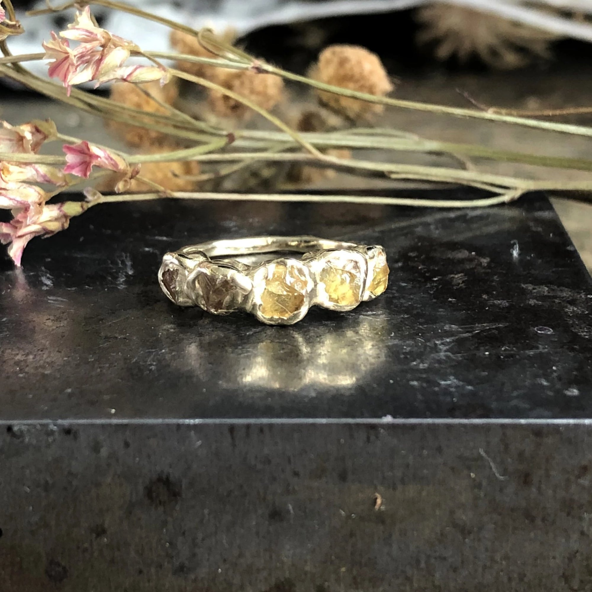 Flower Crown Ring - Yellow Sapphire