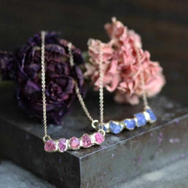 Flower Crown Pendant - Pink Spinel