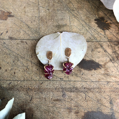 Ruby Crystal Earrings