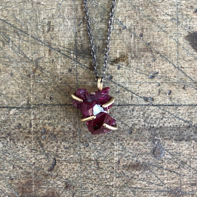Ruby Crystal Necklace