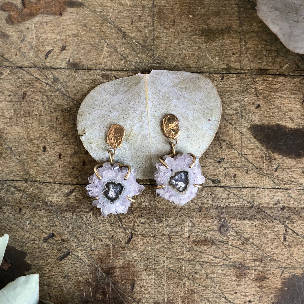 Stalactite Slice Earrings