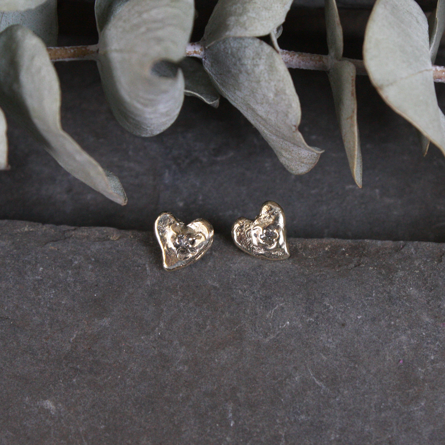 Teeny Heart Studs
