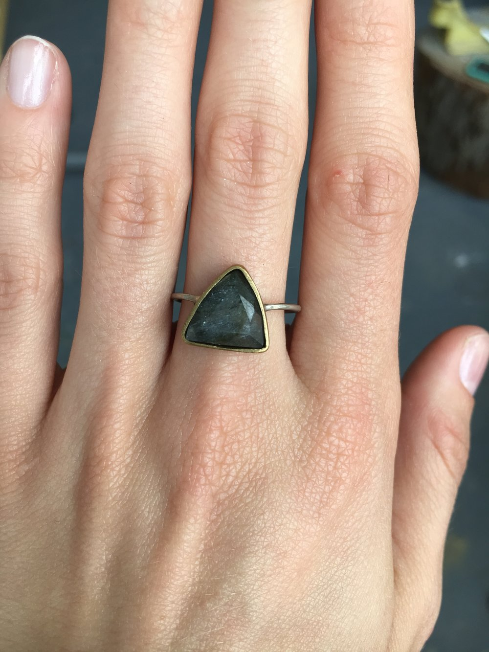 Triangle Monarch Ring