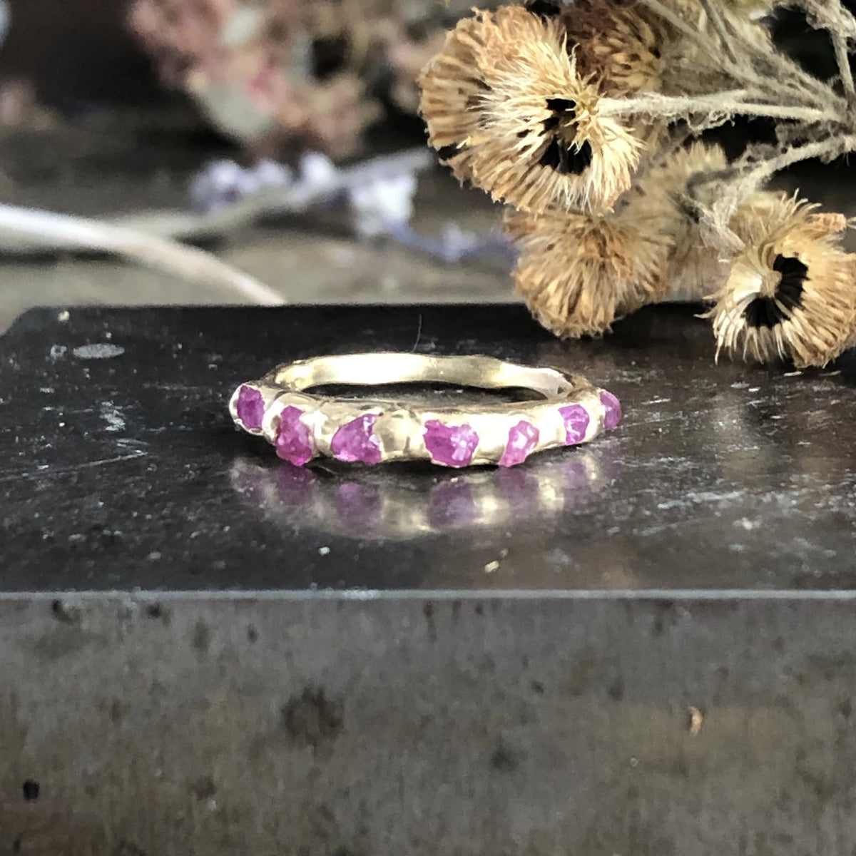 Pink Sapphire Unity Ring