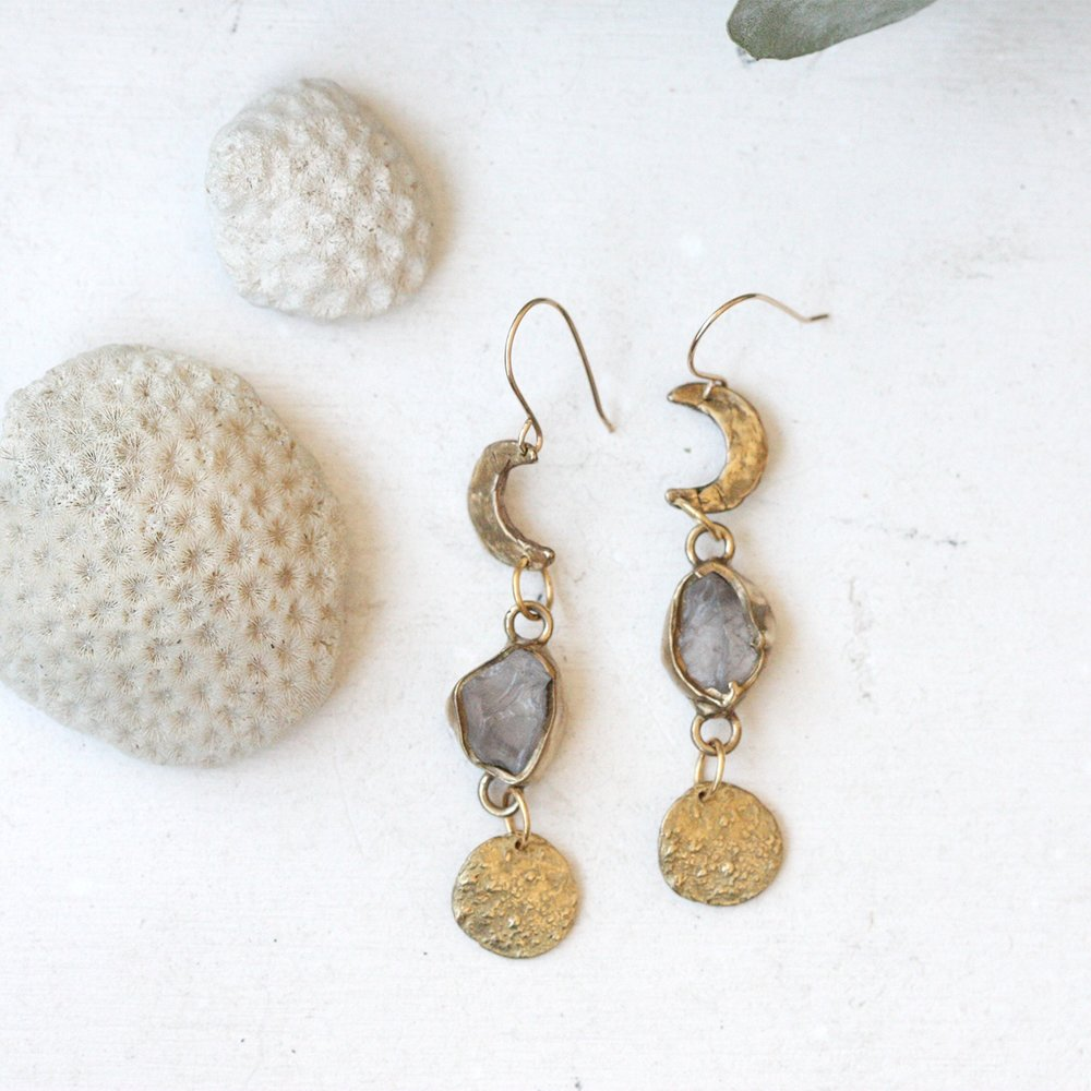 Wax and Wane Earrings