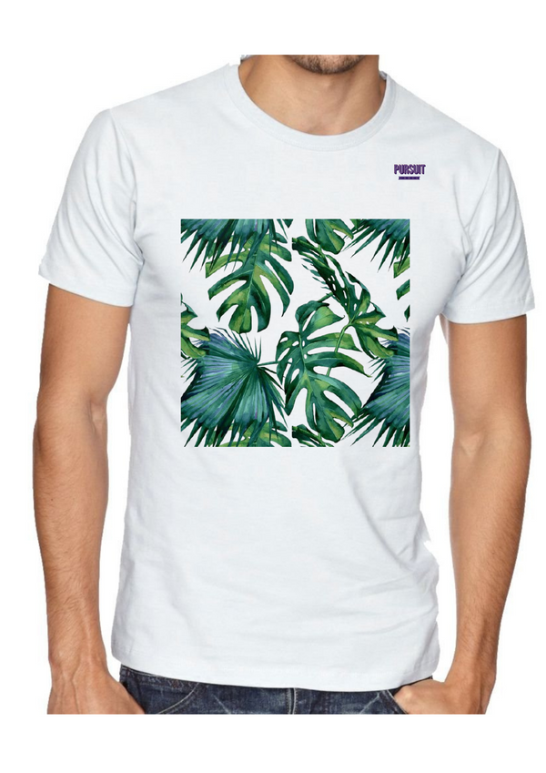 Printed Leaves Men T-Shirt