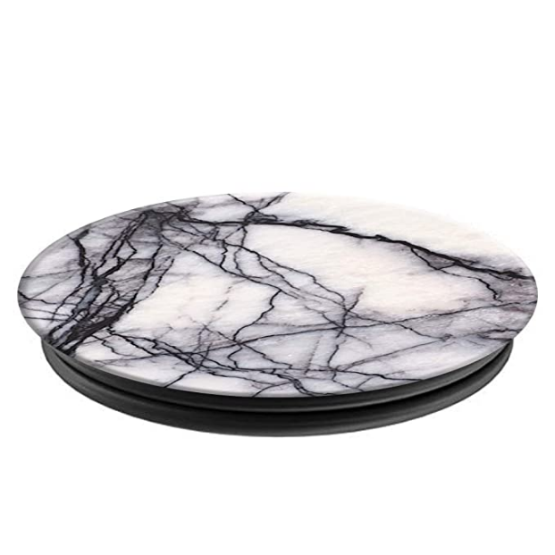 PopSockets: Collapsible Grip & Stand for Phones and Tablets - White Marble