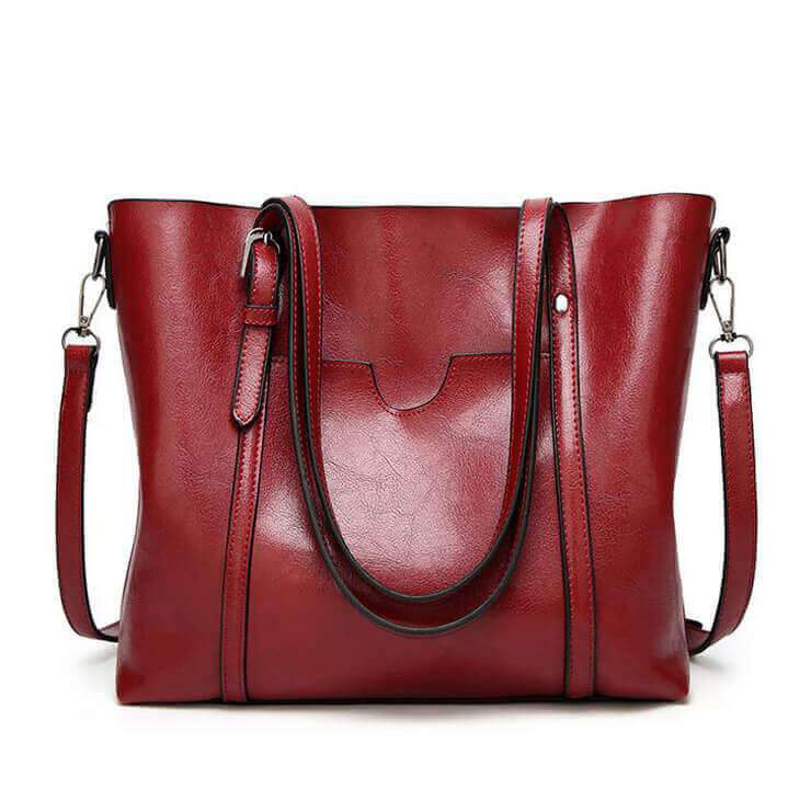 Women Oil Wax Leather Tote Bag | Shoulder Bag
