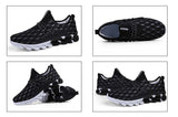 Men's Soft Footwear Sneaker Men Breathable Soft Stripe Fashion Walking Shoe